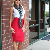 State of the Perfection Pencil Skirt Red