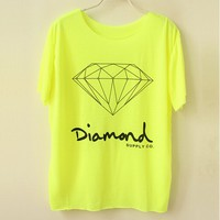Fluorescent Color Diamond Tshirt