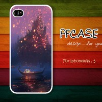 Tangled and Lanterns : Case For Iphone 4/4s ,5 / Samsung S2,S3,S4