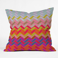 DENY Designs Home Accessories | Sharon Turner Geo Chevron Outdoor Throw Pillow