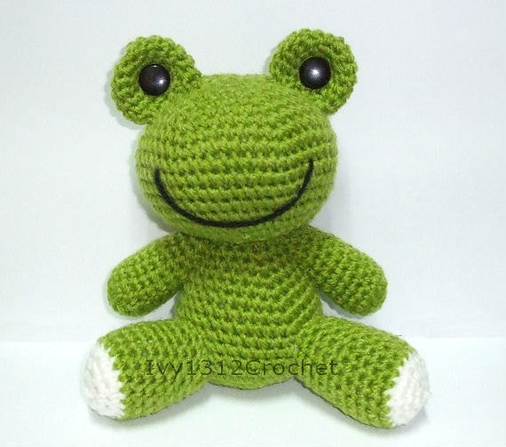 Green Frog - Finished Handmade Amigurumi from ...