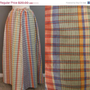 Extended STOREWIDE SALE Vintage 70s Villager Madras Plaid Cotton Maxi Long Skirt - VTG 1970s Beach Hippie Hostess Loungewear