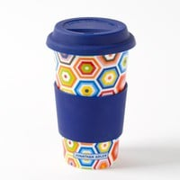 Retro Honeycomb Travel Mug by Jonathan Adler - Gifts for Her - Gifts