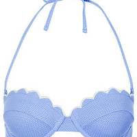 Cornflower Scallop Bikini Top - Bikini Separates - Swimwear  - Clothing