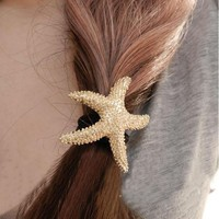 Fashion Starfish Hair Barrette | LilyFair Jewelry