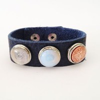 Amazon.com: CHUNKIES Leather Bracelet with Interchangeable Chunkies: Arts, Crafts &amp; Sewing