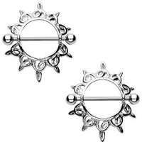 Amazon.com: Body Accentz® Nipple Ring Bars Celtic Knot Body Jewelry Pair 14 gauge Sold as pair HON44: Jewelry