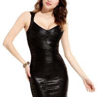 AVA Black Metallic Abby Dress