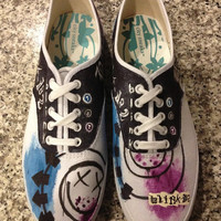 Made to Order womens BLINK 182 shoes
