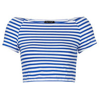 Stripe Bardot Crop