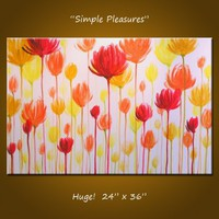 Original Modern Contemporary Abstract Floral by AmyGiacomelli