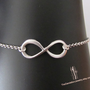 SALE, 10% OFF: Infinity bracelet in white gold, infinity bracelet, wedding jewelry, bridesmaid