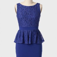 Duchess Of Cambridge Peplum Dress at ShopRuche.com