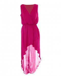 LOVE Lipstick Chiffon Cross Bust Maxi - Love