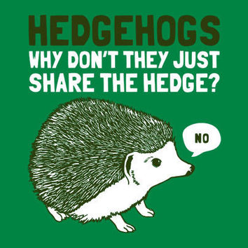 Hedgehogs Can't Share T-Shirt | SnorgTees