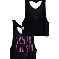 Heart Back Tank - PINK - Victoria&#x27;s Secret