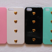 cute iphone 5 case heart studs studded stud