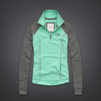 Colorblocked Active Popover Sweatshirt