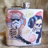 Star Wars full wrap art Flask by theflaskshop on Etsy