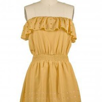 The Honey Mustard Marinade  Dress | Indie Retro Vintage Inspired Dresses | Poetrie.com