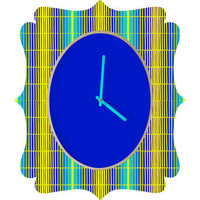 DENY Designs Home Accessories | Randi Antonsen Blue Sun Quatrefoil Clock