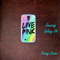 Samsung Galaxy S4 Case,  Love Pink Samsung Galaxy S4/S3 Phone case,  Samsung Galaxy S3 Cases, Galaxy S4/ S3 case