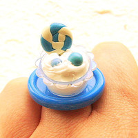 Kawaii Ring Miniature Food Ice Cream Miniature by SouZouCreations