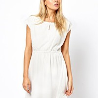 Vila Embellished Front Mini Dress at asos.com