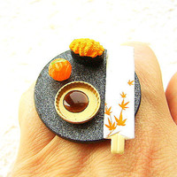 Kawaii Sushi Ring Miniature Japanese Food by SouZouCreations