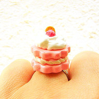 Kawaii Food Ring Sandwich Cookie Miniature Food by SouZouCreations