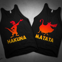Hakuna Matata BFF Best Friends Tanks!
