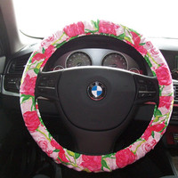 Delta Zeta Lilly Pulitzer Steering Wheel Cover