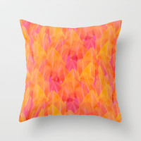 Tulip Fields #105 Throw Pillow by Gréta Thórsdóttir