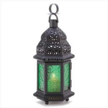 Green Glass Moroccan Lantern