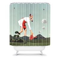 DENY Designs Home Accessories | Natt Vulcano Shower Curtain