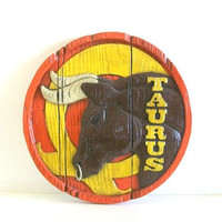 The Birthday Bull - Taurus Bull May Birthday Wall Hanging