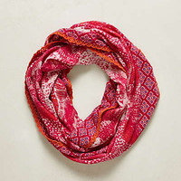 Anthropologie - Lace-Edge Batik Infinity Scarf