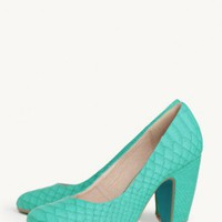 Gaston Snakeskin Pumps By Chelsea Crew at ShopRuche.com