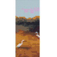 Bookmark Cross stitch kit by Rosie Brown 'Come Fly With Me' modern abstract cross stitch kit