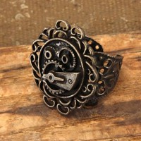 Steampunk Antique Gear Ring