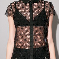 Black Carousel lace top [Jov2634] - $121.00 : Pixie Market, Fashion-Super-Market