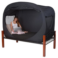 Privacy Pop Bed Tent at BrookstoneBuy Now!