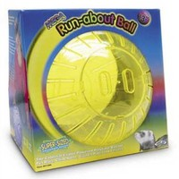 Super Pet Mega Guinea Pig Run-About Exercise Ball, 13-Inch Rainbow, Colors Vary: Pet Supplies