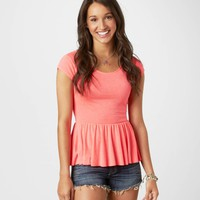 AE Peplum Tee | American Eagle Outfitters