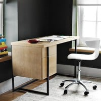Flat-Bar Storage Desk