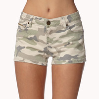 Life In Progress™ Camo Denim Shorts