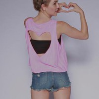 Neon Pink Heart Tank