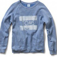 Unisex Heather Blue TOMS Classic Crew | TOMS.com