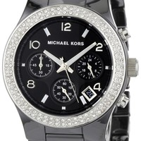 Michael Kors - Quartz Ceramic Classic Chronograph with Black Dial Women's Watch