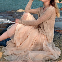 women's sark beach dress/chiffon/wedding dress Boho silk Chiffon sundress dress/long dress/skirt / maxi dress/cotton skirt/Dress